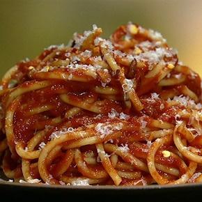 Mario Batali's Spaghetti All'Amatriciana - the chew - ABC.com