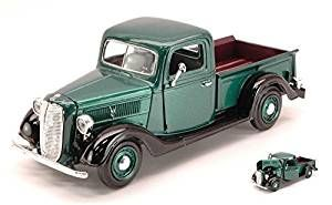 FORD PICK UP 1937 METALLIC GREEN 1:24 MotorMax Auto d'Epoca