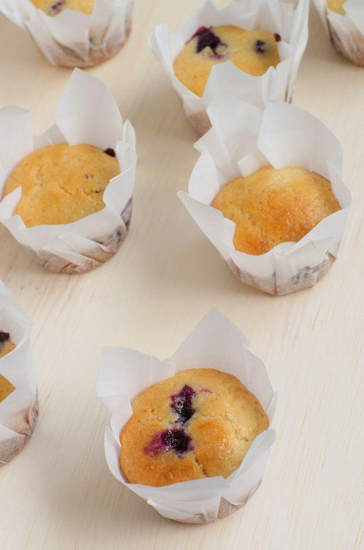 Muffins de Limão Siciliano com Mirtilo: Outra opção deliciosa para as crianças levarem para a escola, esses bolinhos de limão siciliano com mirtilos fizeram o maior sucesso aqui em ...