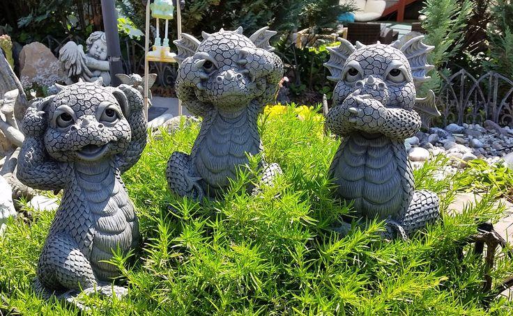 Drache 3er Set nichts hören, nichts sprechen nichts sehen Garten Figur Deko | Garten & Terrasse, Dekoration, Gartenfiguren & -skulpturen | eBay!