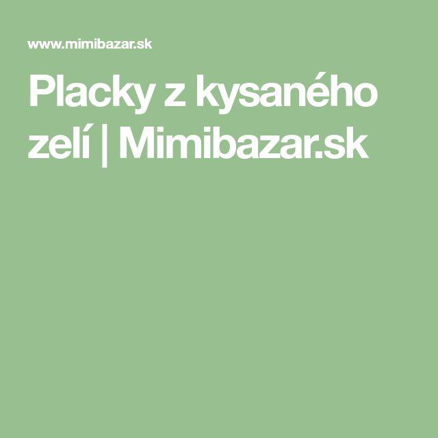 Placky z kysaného zelí | Mimibazar.sk