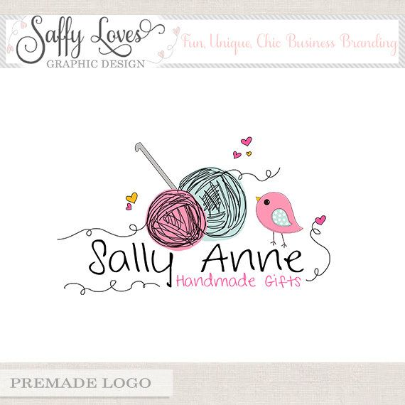 Crochet Logo Premade Premium Business Logo Design by saffyloves, £15.00