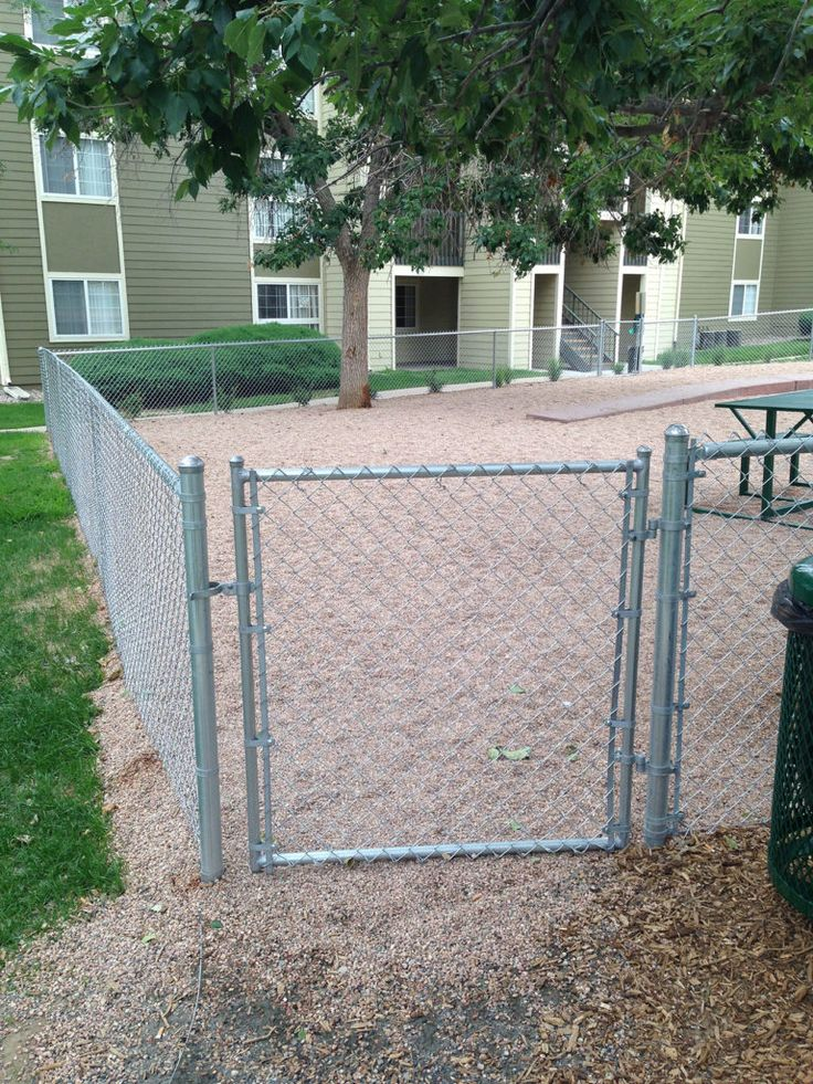 Standard Chain Link Gate at Dog Park. Our chain link fences are popular for commercial, residential, and industrial sites and are one of the most cost effective fence types on the market.