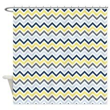 Blue And Yellow Zig Zags Shower Curtain for153 best shower curtains images on Pinterest   Shower curtains  . Blue And Yellow Shower Curtain. Home Design Ideas