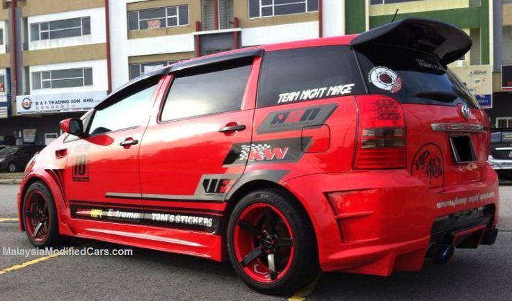 Modified Custom Toyota Wish (ZNE10, 1st generation) http://www.malaysiamodifiedcars.com/modified-custom-toyota-wish-1st-generation-zne10-mpv #toyotawish #wish #zne10