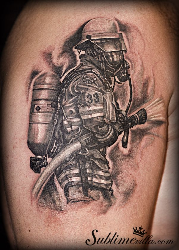 trash polka fireman tattoo - Google Search