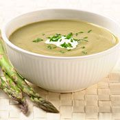 Asparagus-Leek Soup with Creme Fraiche and Chives, Recipe