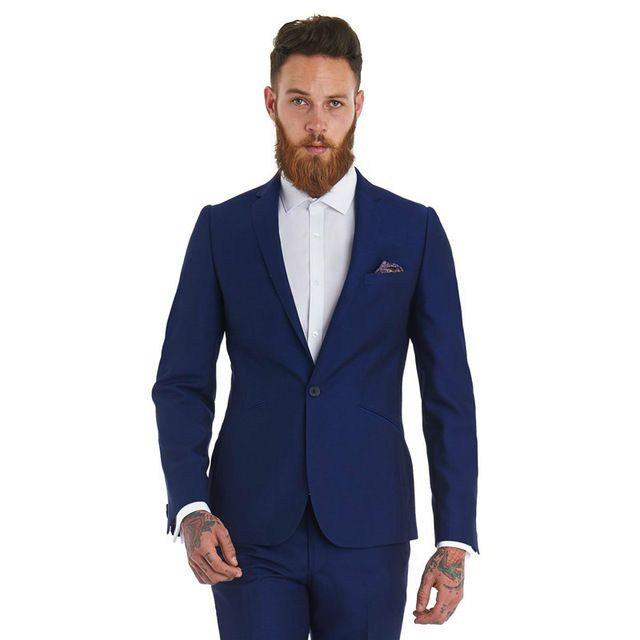 ==> [Free Shipping] Buy Best Men Suit Custom Made Mans Suits Two Pieces Tux Notch Lapel Groom Tuxedos Evening Wedding Slim Fit Best Man (jacketpants ) Online with LOWEST Price | 32804917078