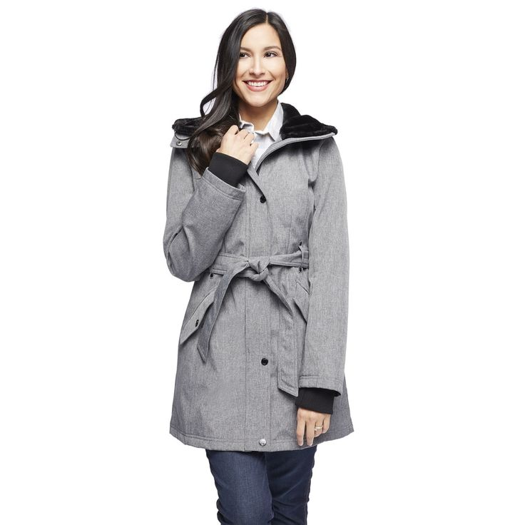 Jessica Simpson Women's Belted Hooded Coat - 18734698 - Overstock - Top Rated Jessica Simpson Coats - Mobile