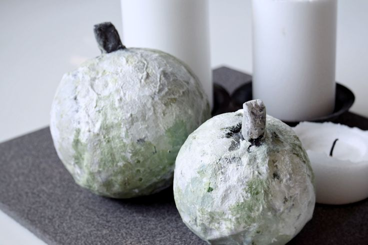 DIY Papmache græskar