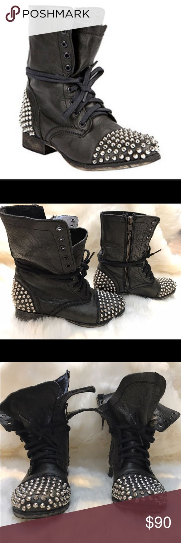 """Steve Madden """"Tarnney"""" studded combat boot Steve Madden """"Tarnney"""" studded combat boot. These have been worn 3 times, they are in excellent condition with no signs of wear. They can be worn slouchy or laced all the way up. All studs are intact. Originally $149 bought from Steve Madden stores. These are a size 7. Super cute boot! Steve Madden Shoes Combat & Moto Boots"""