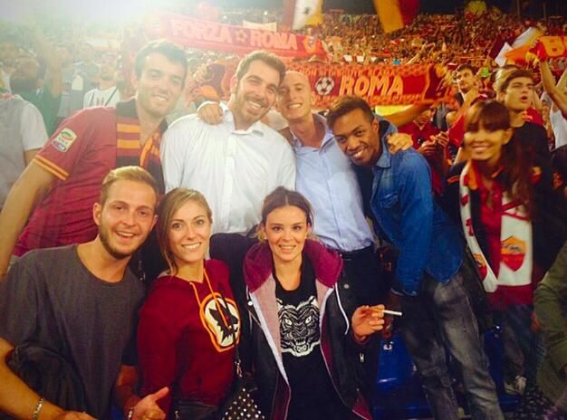 Vicky, Souper Tiger and friends support A.S. Roma @ Stadio Olimpico, Rome (18\09\2014) #besouper