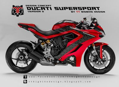 tt bigbike design: ducati supersport design concept v.2