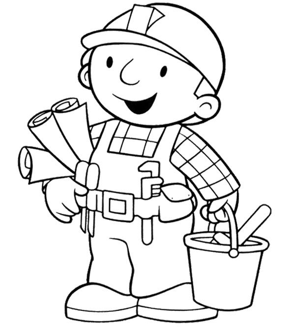Bob The Builder An Architect Building Coloring Page