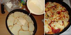 Sajtos pizza száraz kenyérből