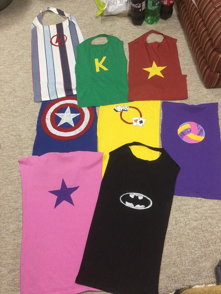 Superhelden-Capes zum Kindergeburtstag ~  superhero capes for kids