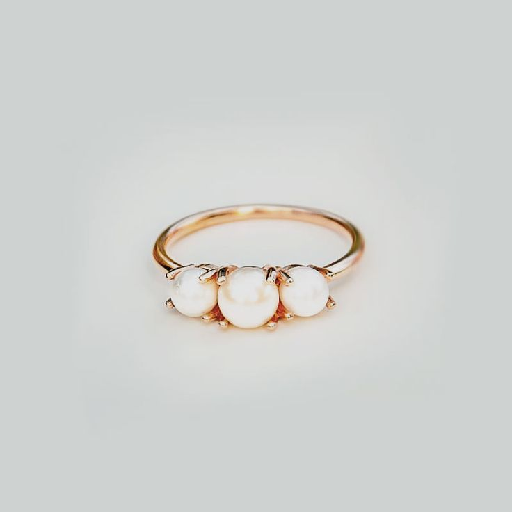Loving pearls & gold these days. You & Me Forever Triple Pearl Ring