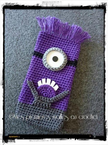 Housse téléphone Minion violet