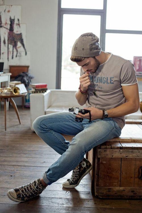 como usar jeans de hombre sabado