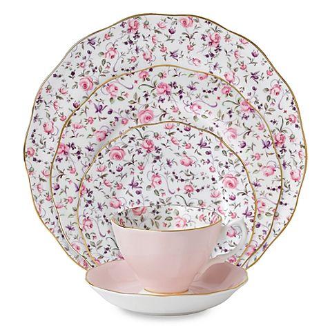 Royal Albert Rose Confetti Formal Vintage Dinnerware