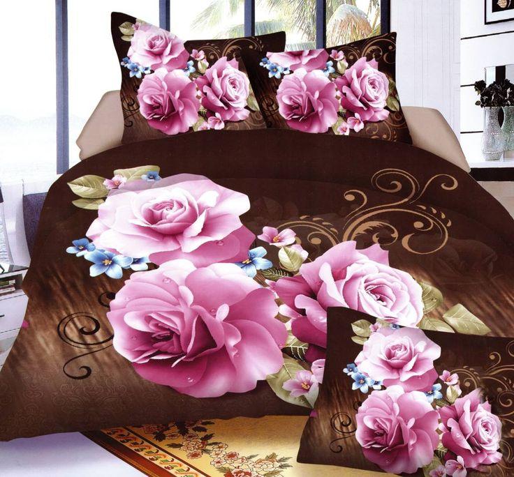 Kvalitné posteľné obliečky s kvetmi fialovej farby