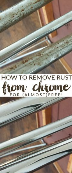 chemical free, easy way to remove rust from chrome