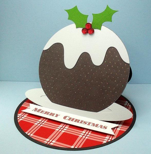 Christmas Pudding Easel Card