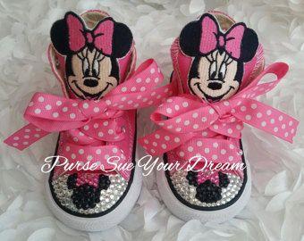 Aangepaste Swarovski Strass Minnie Mouse Converse schoenen - Minnie Mouse verjaardag - Minnie Party - Disney schoenen - Disney Outfit - Disneyworld