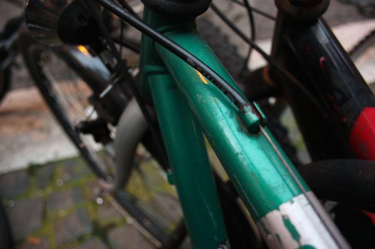 #Bike #Green #RioneMonti #Rome #Parking #bicycle