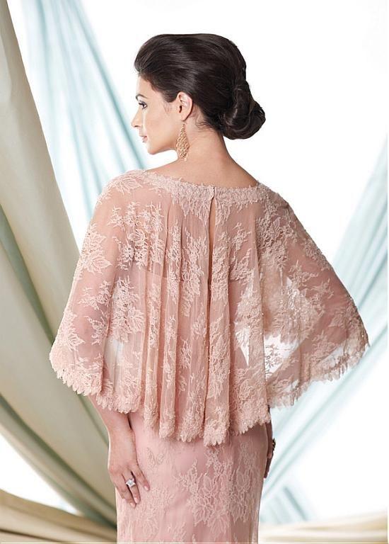 comprar Glamorous encaje vaina Scoop escote completo de longitud Madre de la novia de descuento en Dressilyme.com