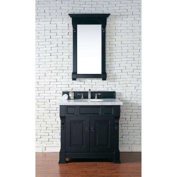 "James Martin Furniture Brookfield 36"" Antique Single Vanity with 4 CM Santa Cecilia Granite Top"