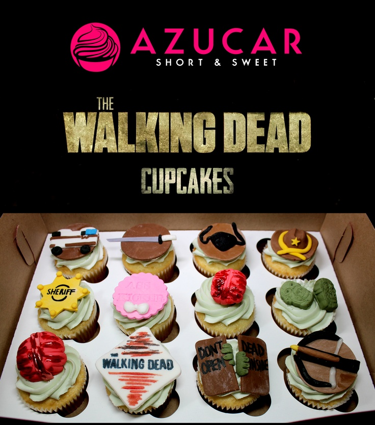 The Walking Dead cupcakes a perfect B-day gift to myself to start Season 4!!!