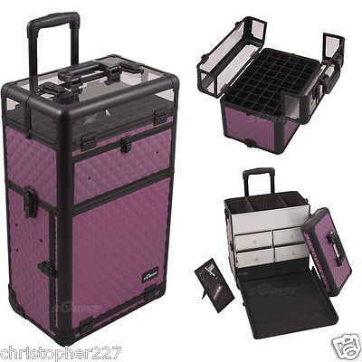 Professional OPI Gel Shellac Nail Polish Manicure Beauty Case Trolley Organizer