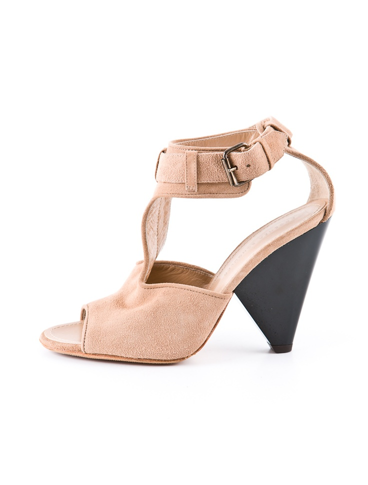 Proenza Schouler Suede Sandal. Love the nude color, t-strap and the easy-to-wear
