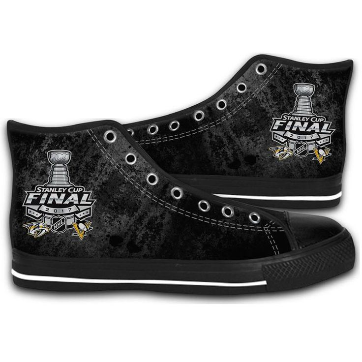 2017 STANLEY CUP FINAL NASHVILLE-PITTSBURGH HIGH TOP CANVAS SHOES MEN'S & WOMEN'S RUNNING   #sport,#running,#shoes,#new