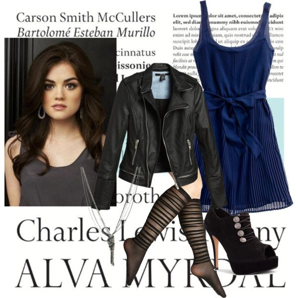 : Hairs Makeup Clothing, Edgy Style, Blue Dresses, Aria Montgomery Style, Outfit, One Word, Wet Seal