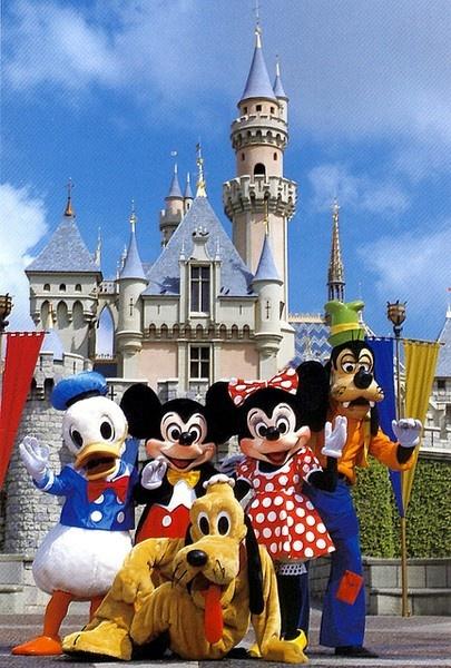 Disneyland in California  (Disney World is so much better)