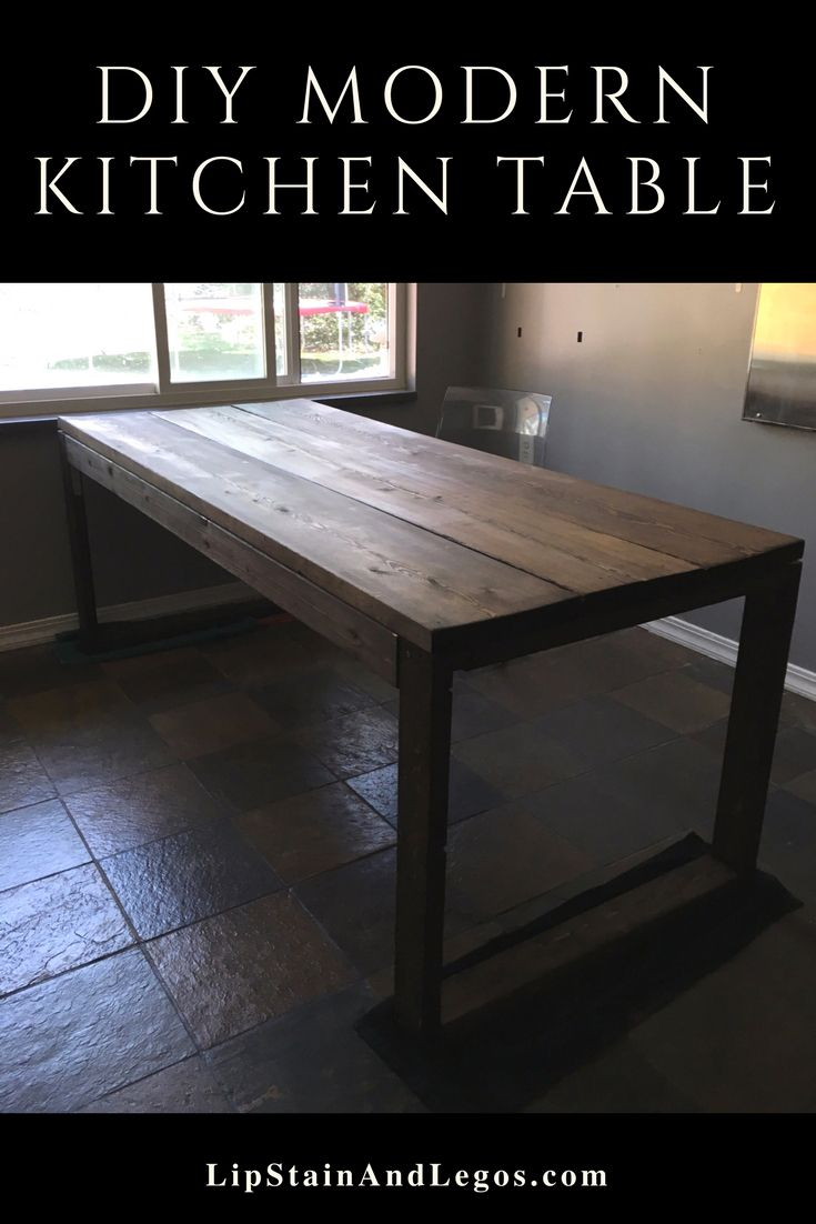 Make Your Own Diy Dining Table Diy Dining Table Cheap Home Furniture Modern Kitchen Tables