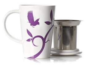 perfect tea mug with infuser and lid from david's tea. $19.50