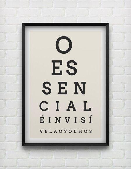Invisível o essencial é invisivel aos olhos frame poster