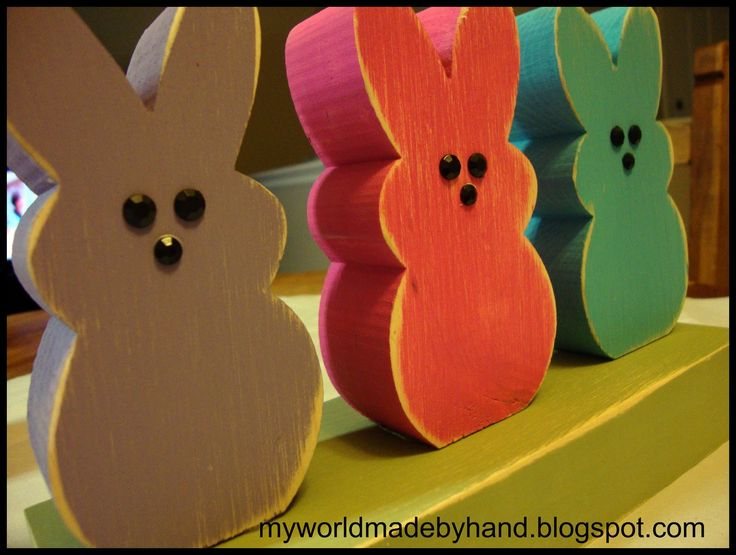 wooden peeps! I would paint them in pastel colors. Soooooo cute.
