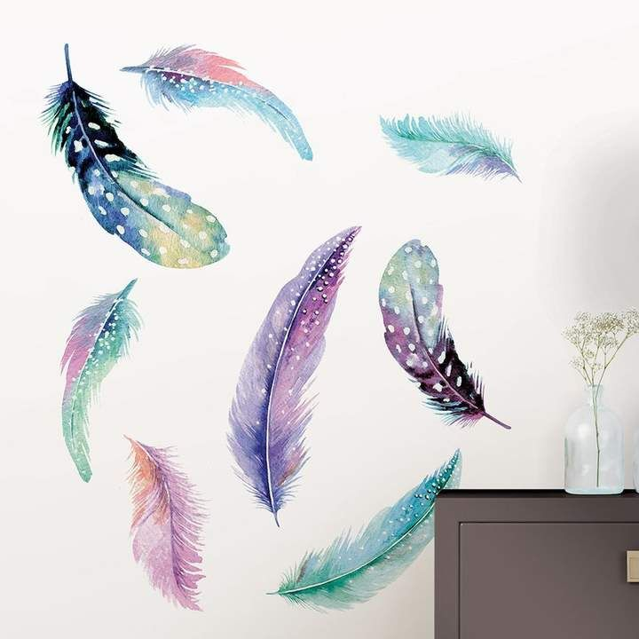 Wallpops Wall Art Kit Celestial Feathers Wall Decal Feather