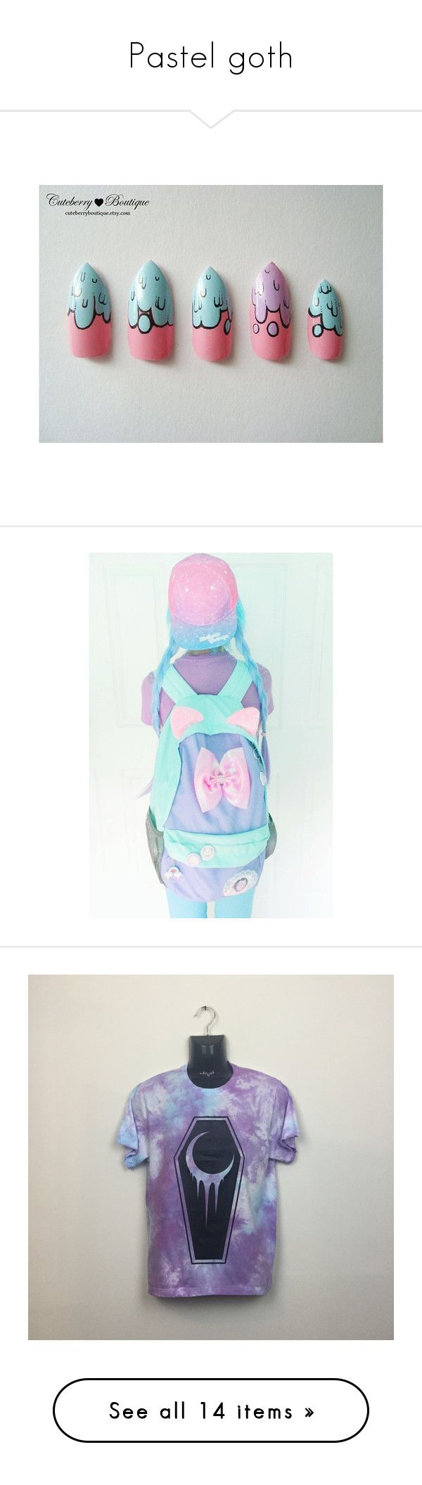 """""""Pastel goth"""" by gabikrocka ❤ liked on Polyvore featuring accessories, jumpsuits, rompers, skirts, bottoms, dresses, overalls, pink bib overalls, pink rompers and bib overalls"""