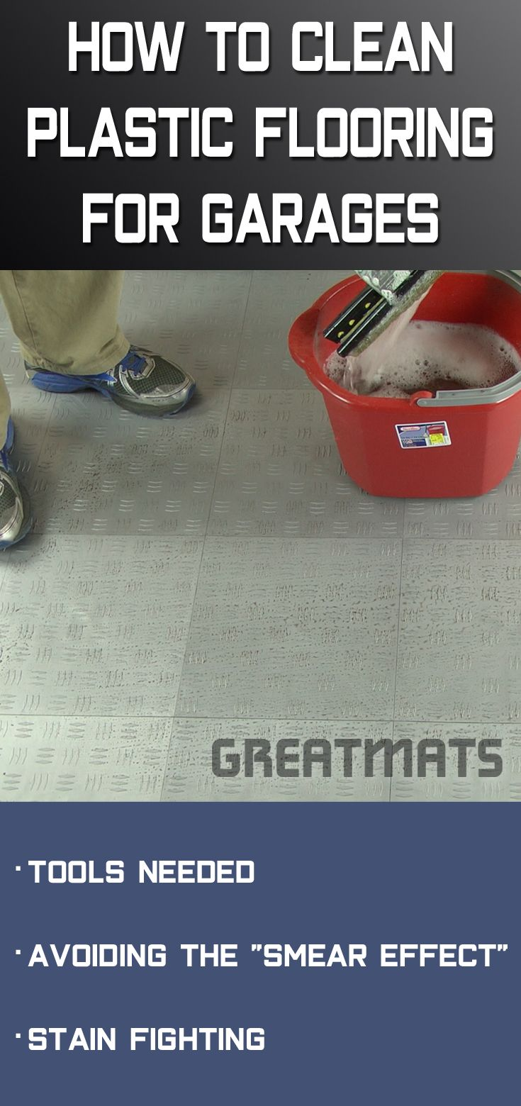 Cleaning Plastic Garage Floor Tiles Is A Simple Process Mop The With Hot Water And Common Household Cleaner Changing Soapy Often