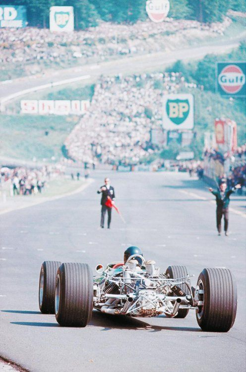1967 in the #BelgianGP at Spa, Jim Clark in Lotus 49 set the record for the most…