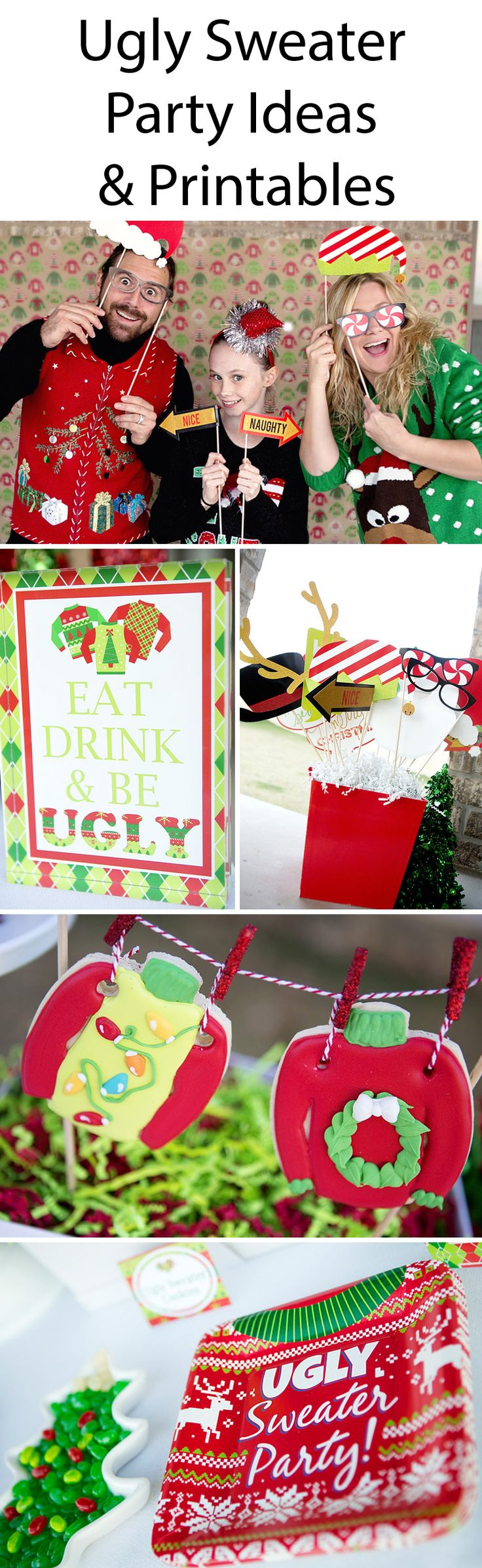 Naughty Christmas Party Ideas Part - 29: Ugly Sweater Party - Tacky Sweater Christmas Party Ideas