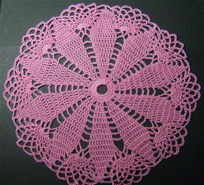 Here is a link to the pattern for this doily. I found it to be quite simple to creat. http://library.ndsu.edu/grhc/history_culture/textile/olgastolz.html Other topics you may enjoy:La Fleur Doily BagChunky Doily RugDoily PillowCrochet Sun-Flower DoilyPassion Flower Doily