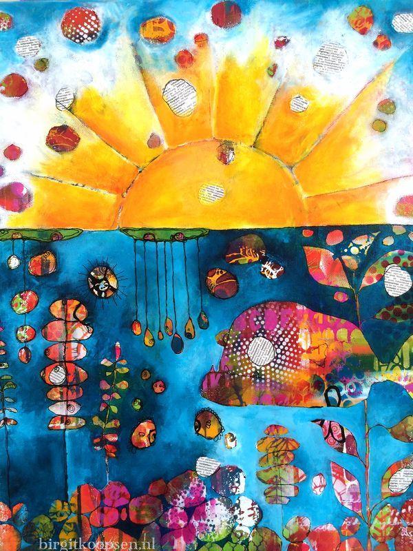 acrylic painting - work in progress - birgit koopsen
