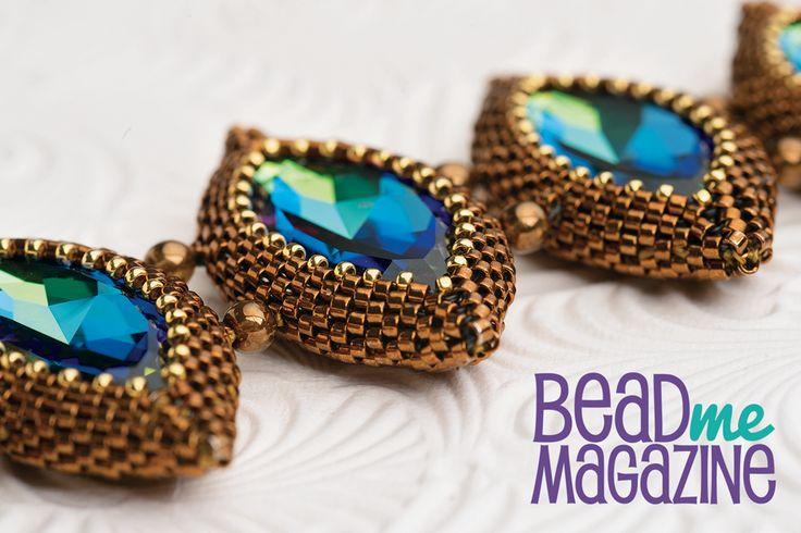 Make Diane Fitzgerald's sparkling NAVETTE bracelet in Issue 5 of Bead Me. www.beadme.tv