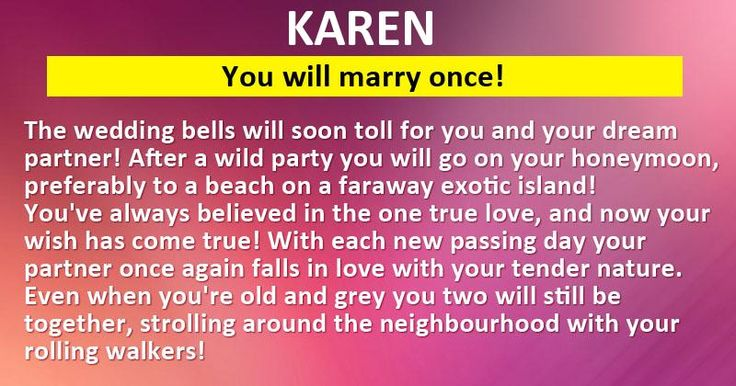 How many times will you marry?